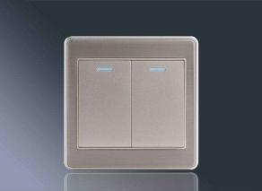 拉丝铝板应用-开关面板